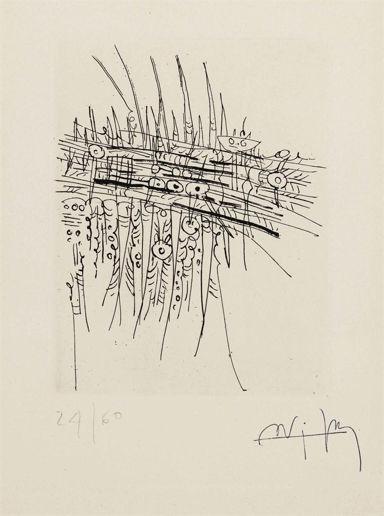 Wifredo Lam-Untitled, from Arturo Schwarz Le Surrealisme entre les deux guerres, Volume II-1966