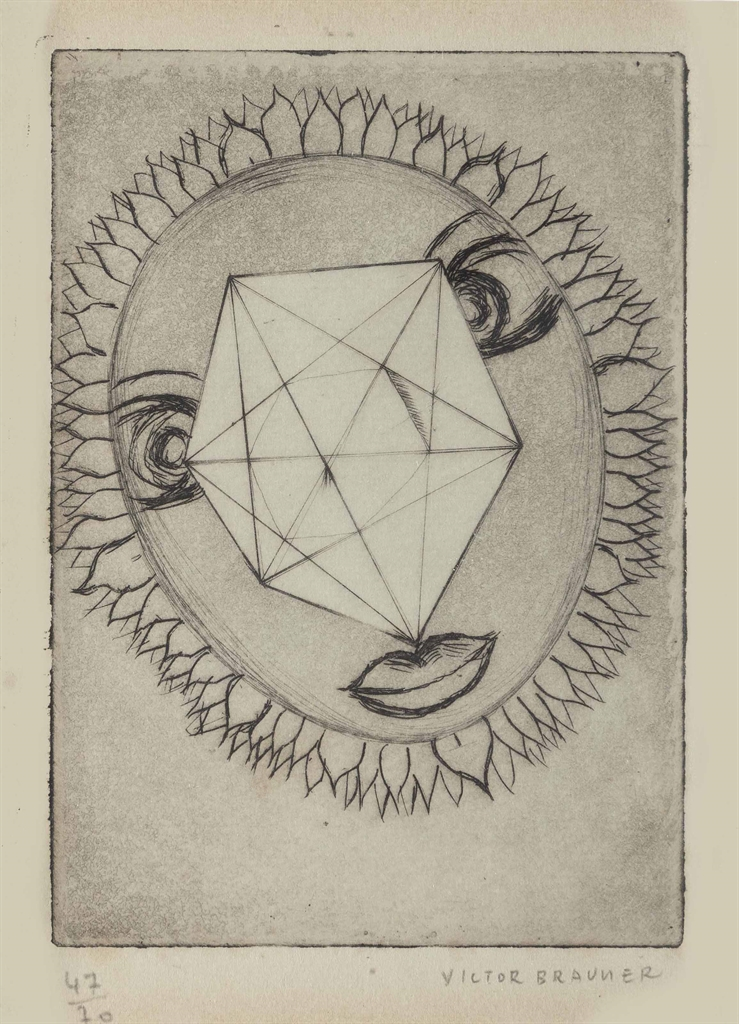 Victor Brauner-Untitled, from Robert Ruis Frappe de l'echo-1940