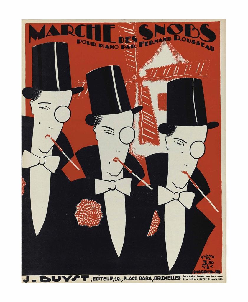 Rene Magritte-Marche des Snobs-1924