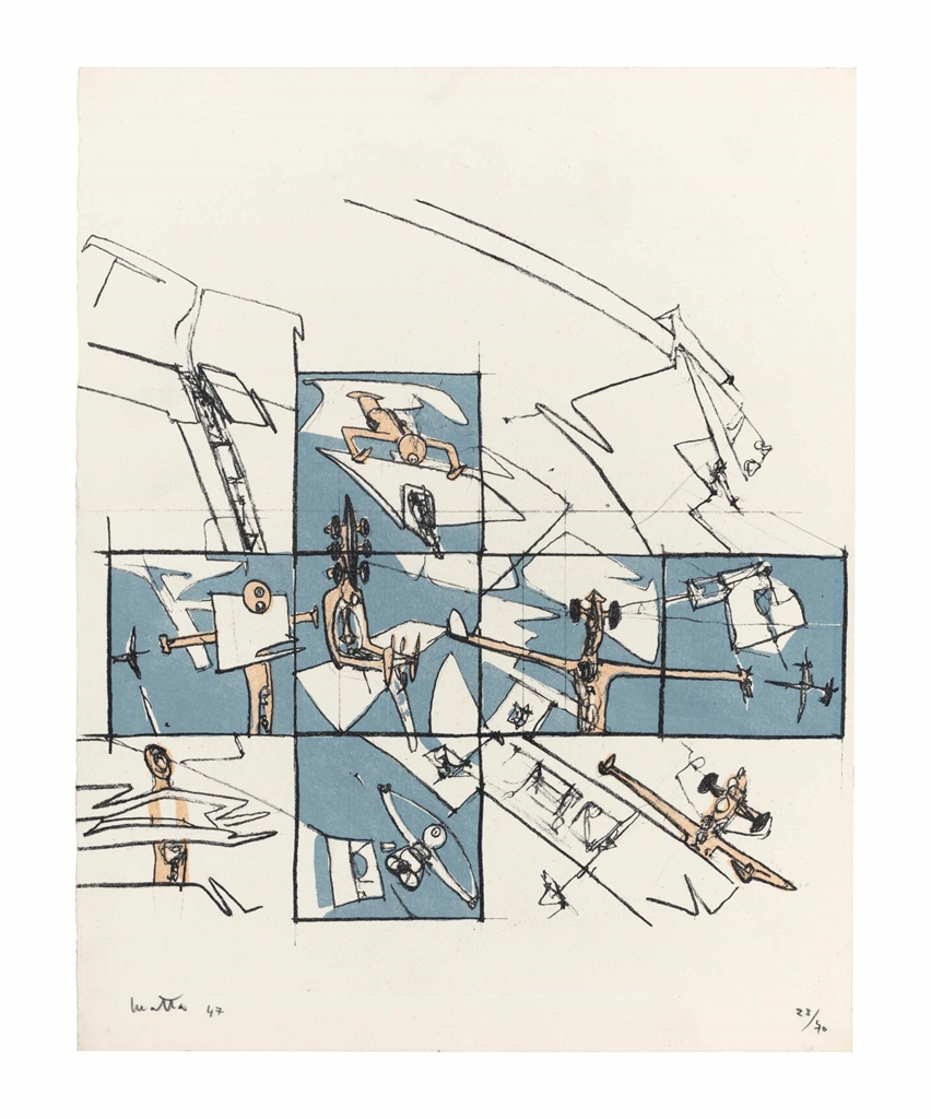 Roberto Matta-I Want to See It to Believe It, from Brunidor Portfolio Number 1-1947