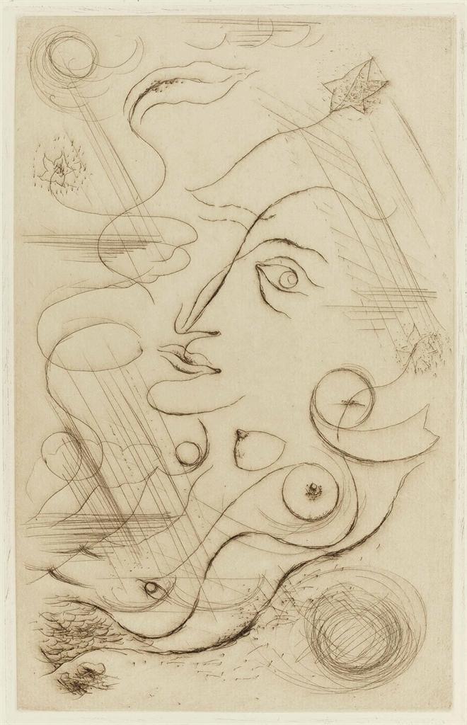 Andre Masson-Robert Desnos, C'est les bottes de 7 lieues cette phrase Je me vois, Galerie Simon, Paris, 1926-1926