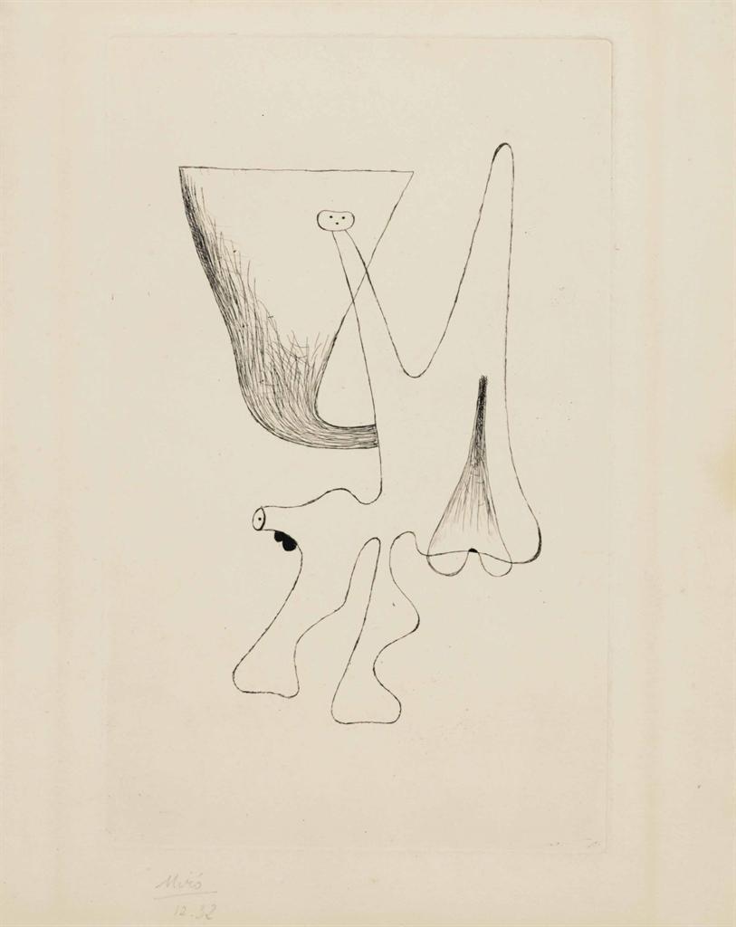 Joan Miro-Plate 2, from Enfances-1933