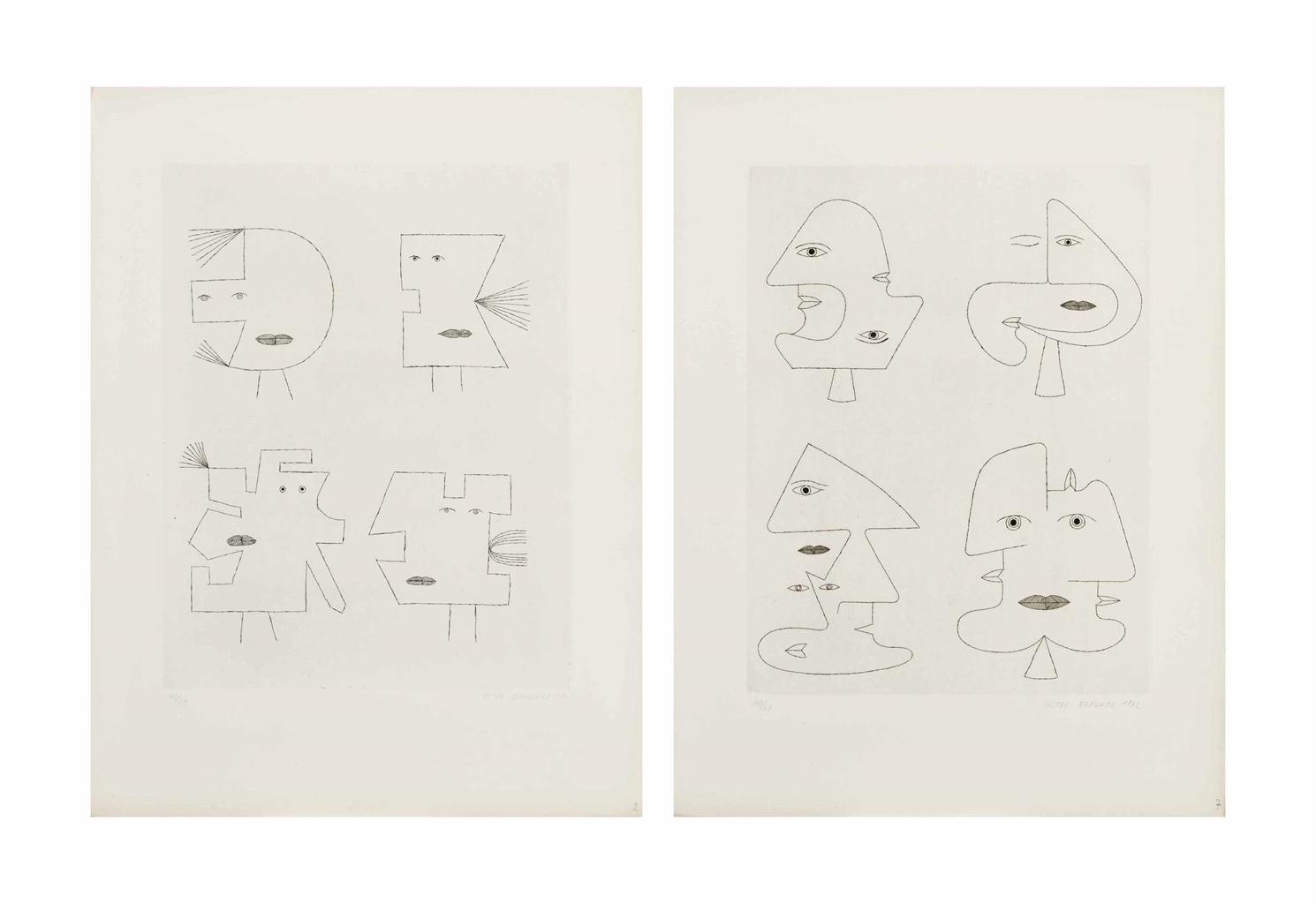 Victor Brauner-Codex d'un visage, Le Pont Cardinal, Paris, 1963-1963