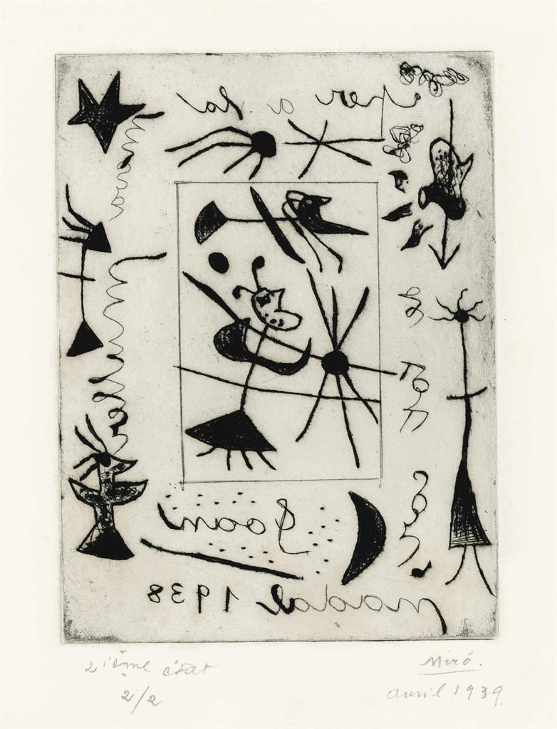 Joan Miro-Bijou et cadre-1938