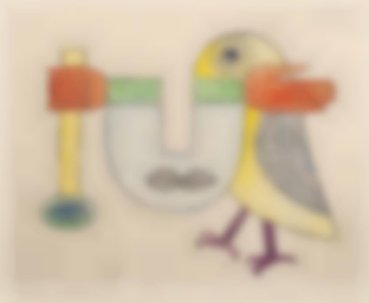 Victor Brauner-L'Oiseau innome, from Gherasim Luca Ce Chateau pressenti-1958