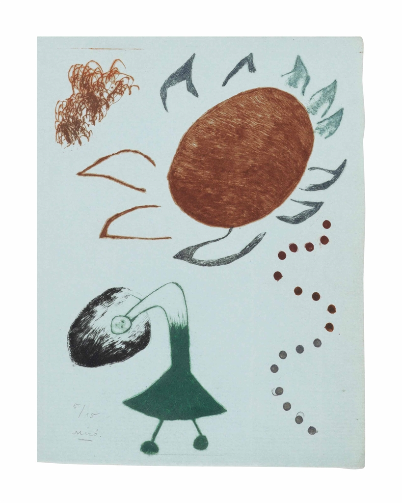 Joan Miro-Untitled, from Au Paradis des fantomes-1938