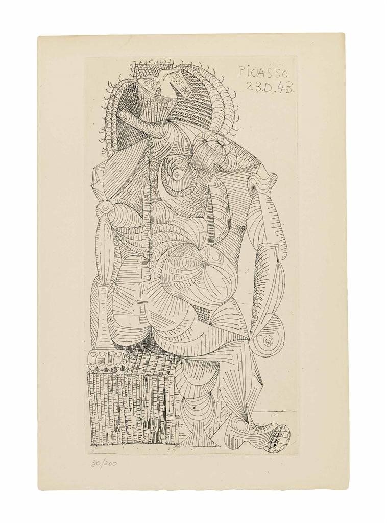 Pablo Picasso-Robert Desnos, Contree, Robert J. Godet, Paris, 1944-1944