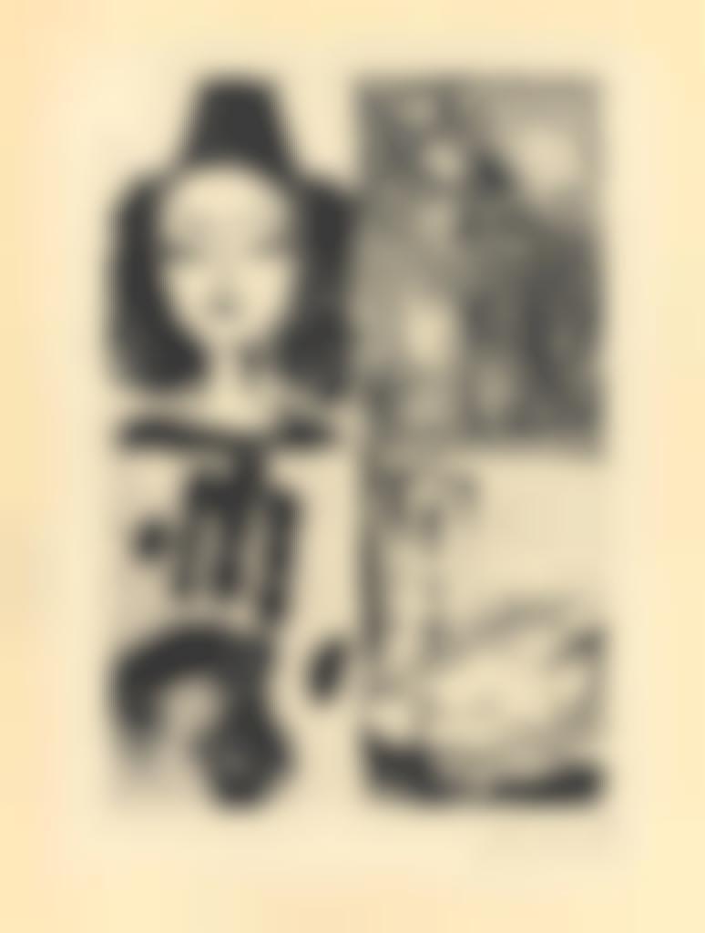 Pablo Picasso-Quatre sujets pour La barre d'appui-1936