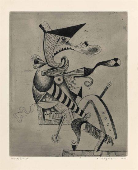 Kurt Seligmann-Corsaire, from Protuberances cardiaques-1930