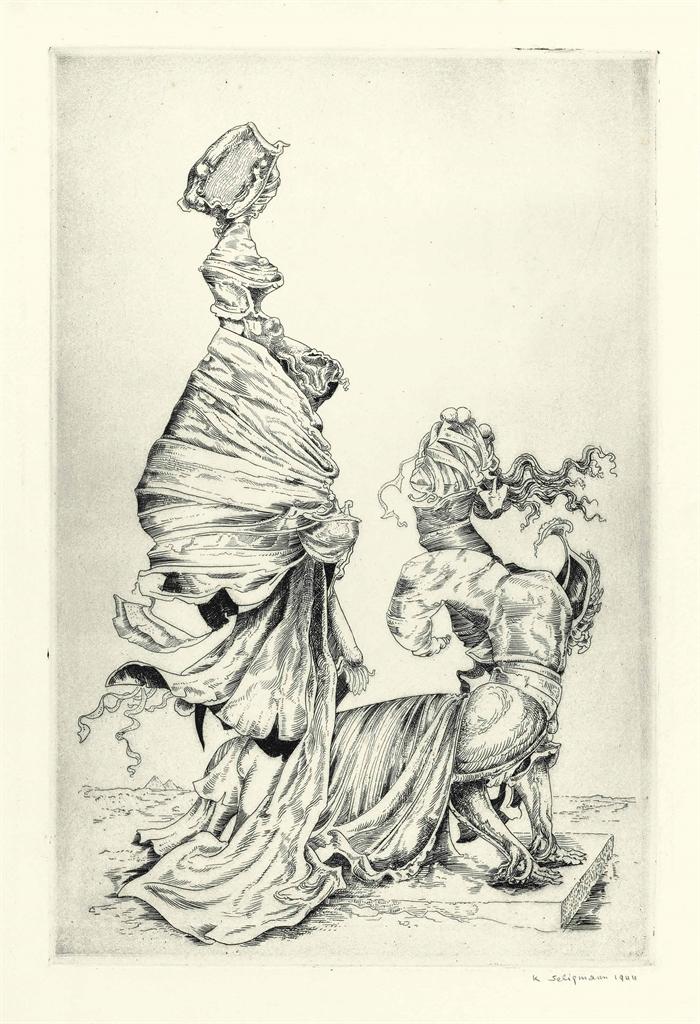 Kurt Seligmann-Sphinx, from The Myth of Oedipus-1944