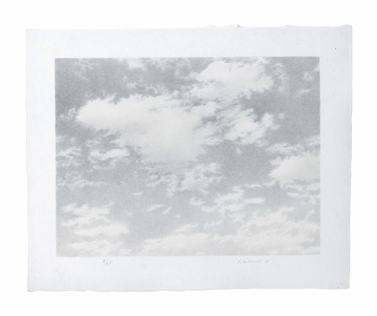 Vija Celmins-Sky, from Untitled Portfolio-1975