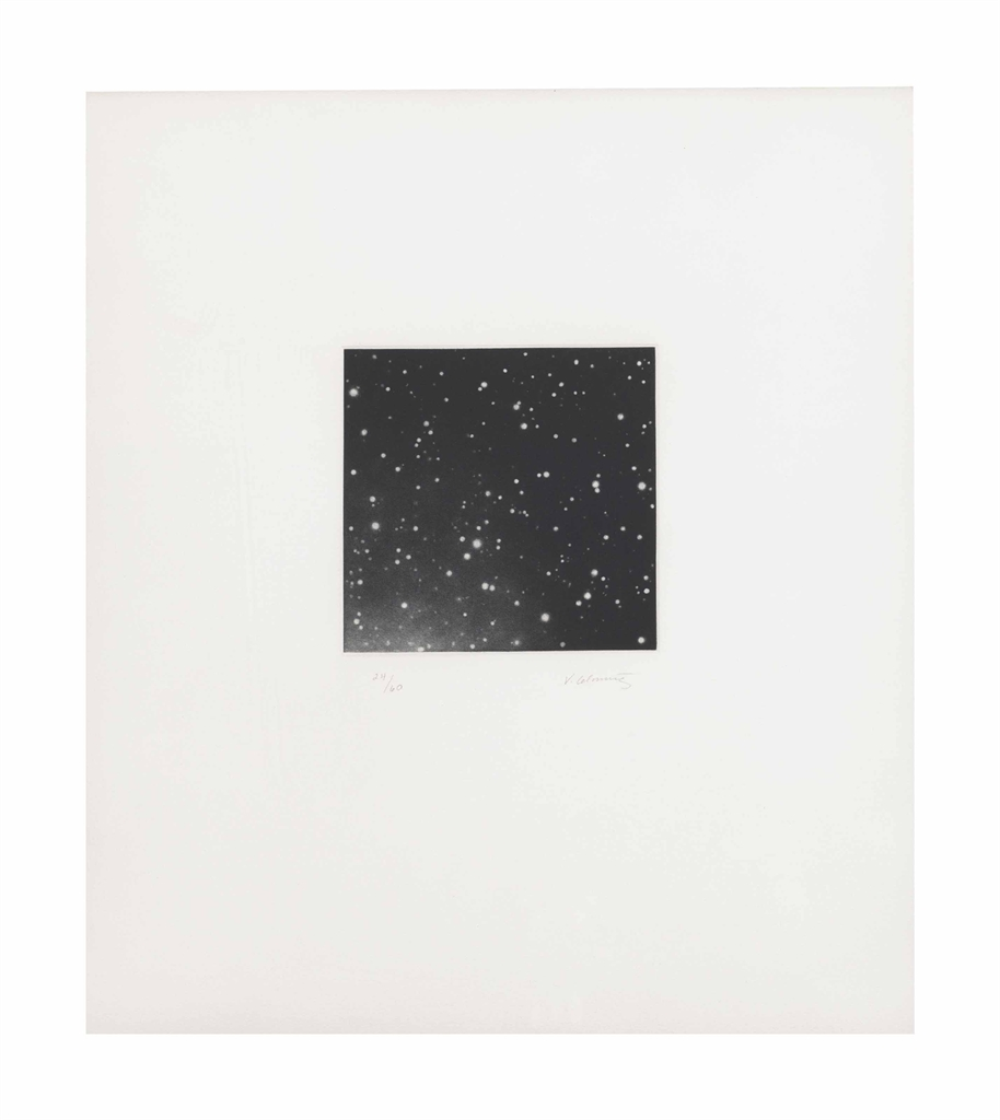 Vija Celmins-Untitled (Galaxy), from Untitled Portfolio-1975