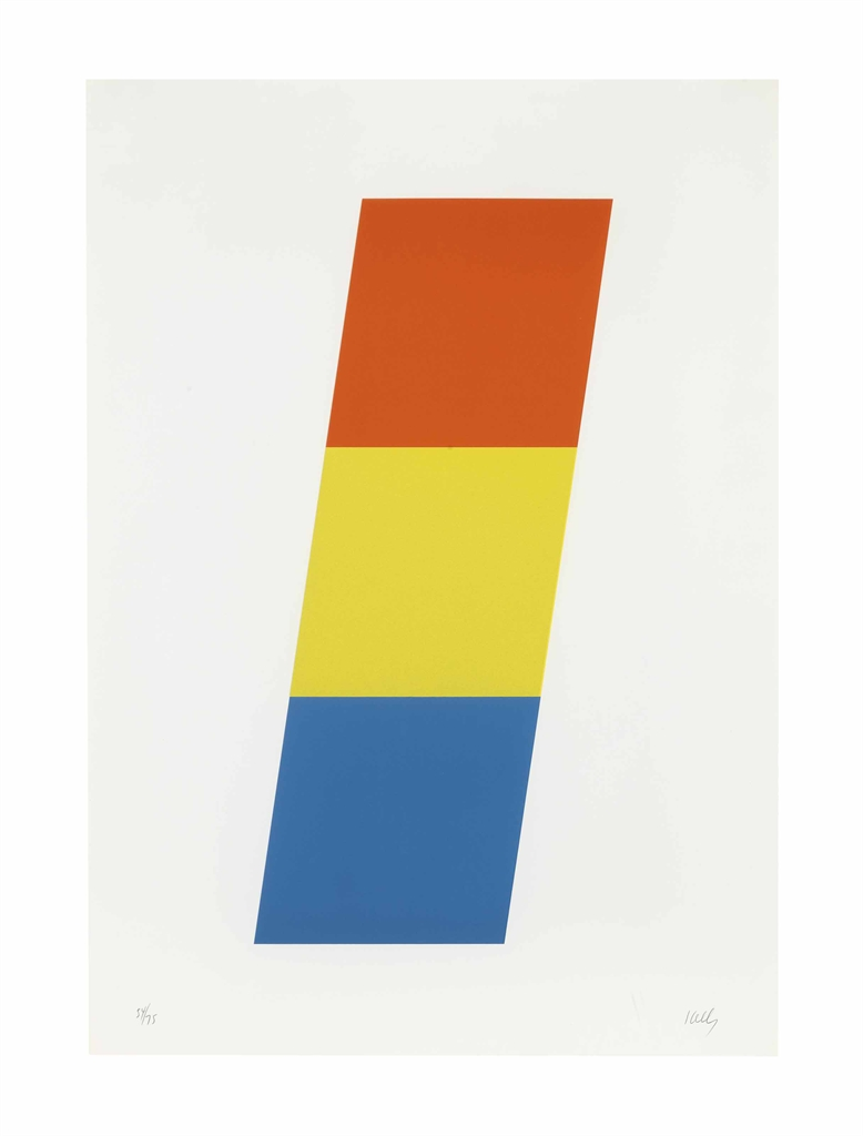 Ellsworth Kelly-Red-Orange Yellow Blue-1970