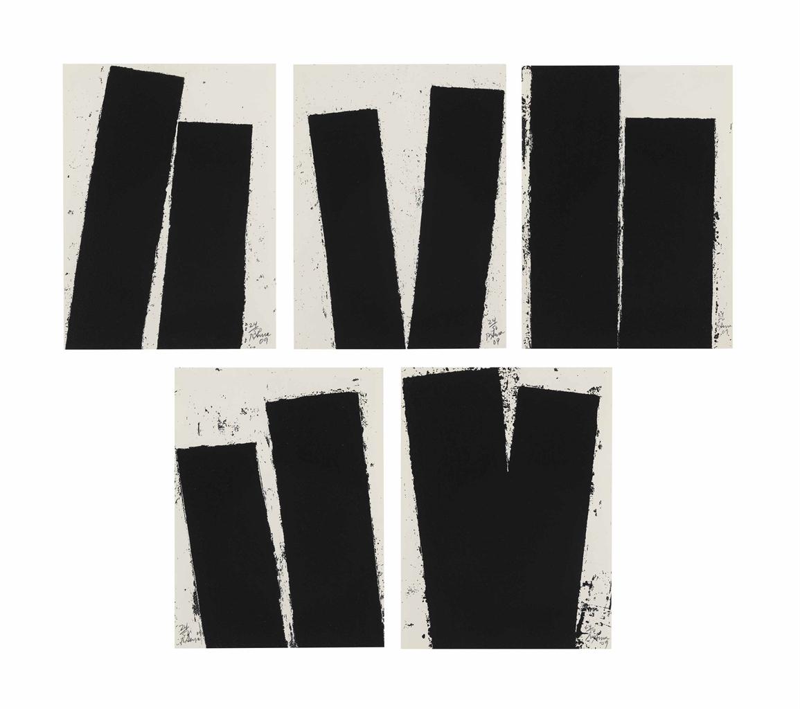 Richard Serra-Promenade Notebook Drawing-2009