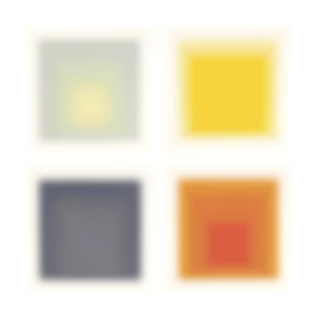 Josef Albers-White Line Squares, Series I-1966