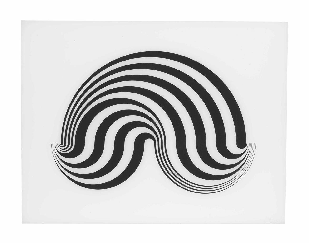 Bridget Riley-Untitled (Fragment 5)-1965