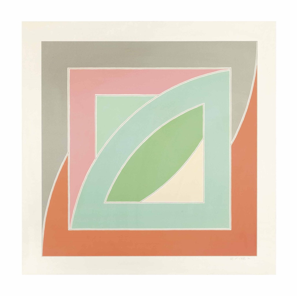 Frank Stella-River of Ponds IV, from Newfoundland Series-1971