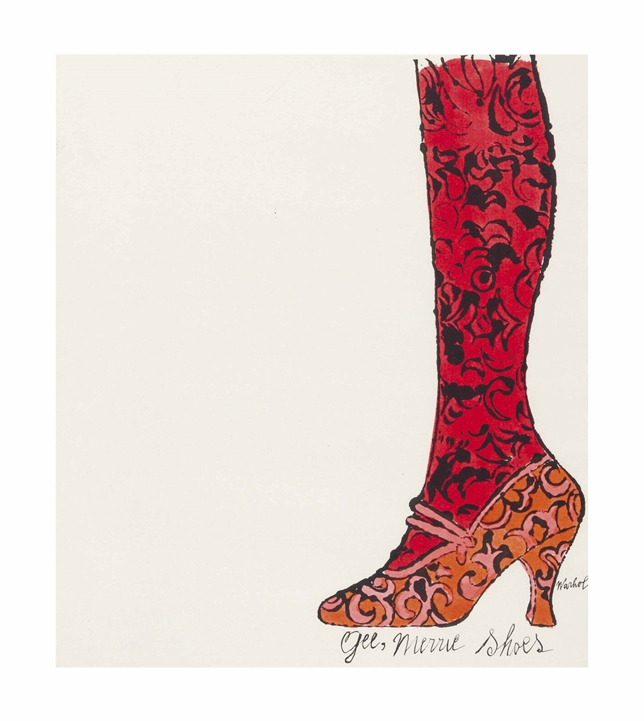 Andy Warhol-Shoe and Leg-1955