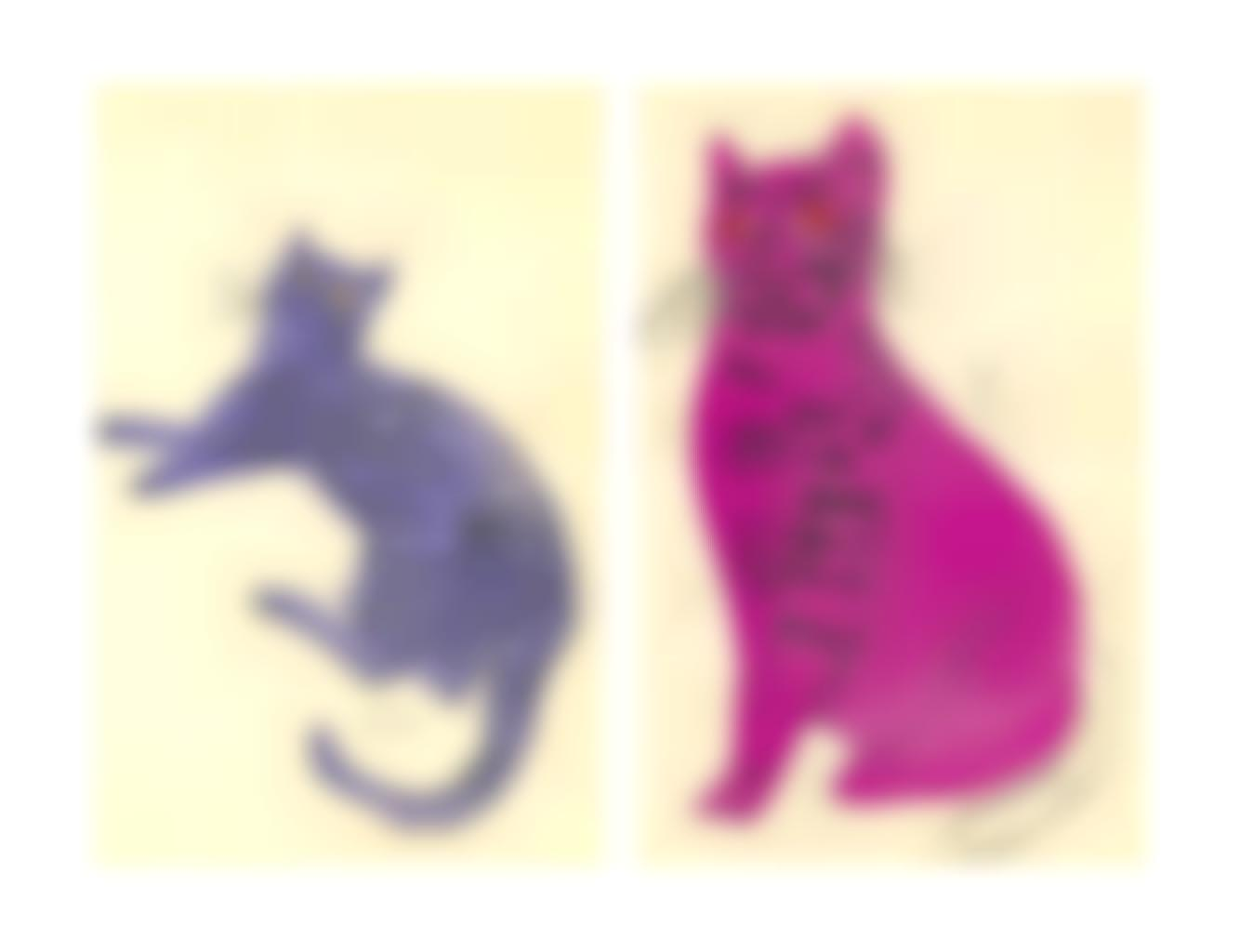 Andy Warhol-25 Cats Name(d) Sam and one Blue Pussy-1954