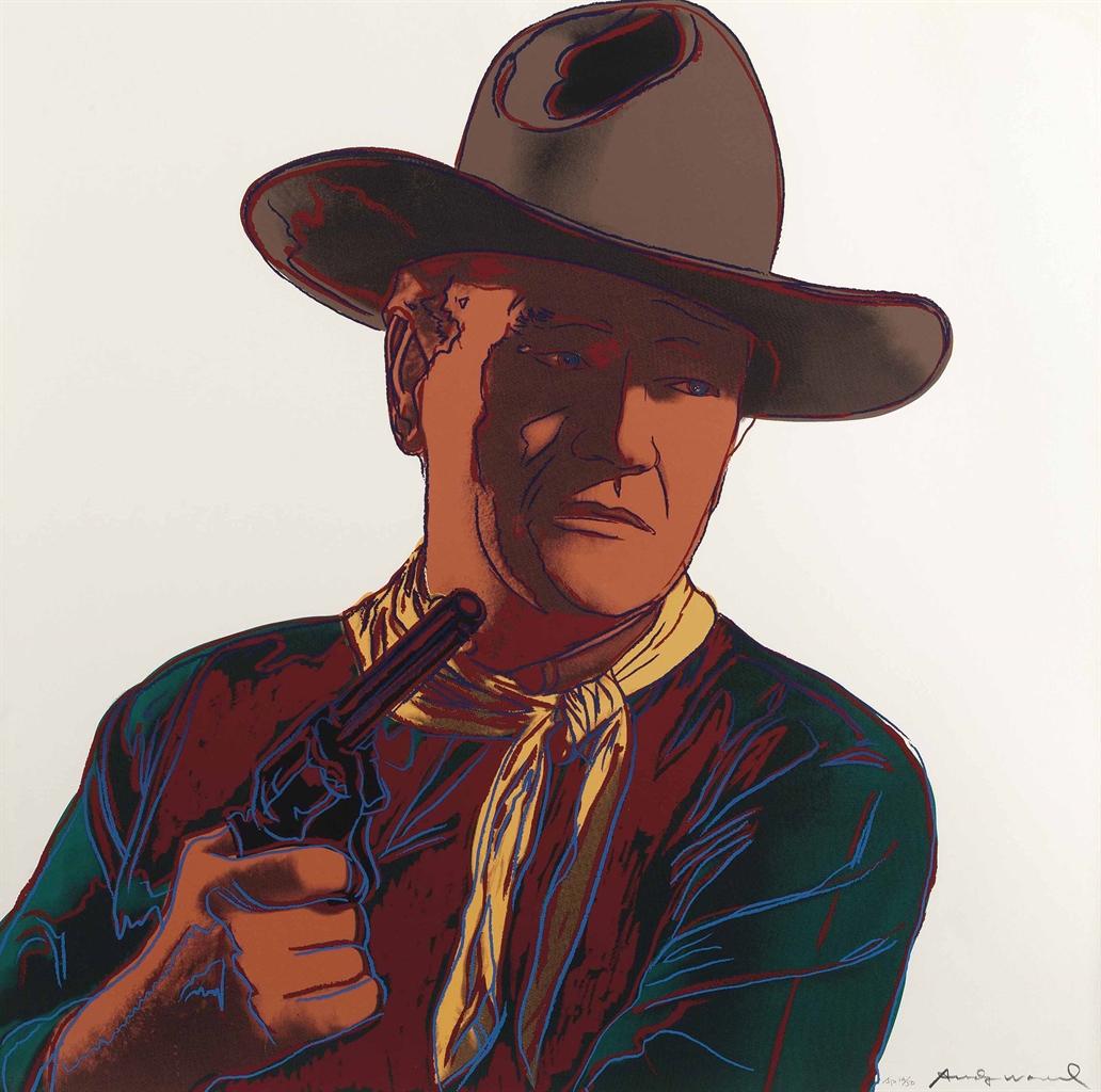 Andy Warhol-John Wayne, from Cowboys and Indians-1986