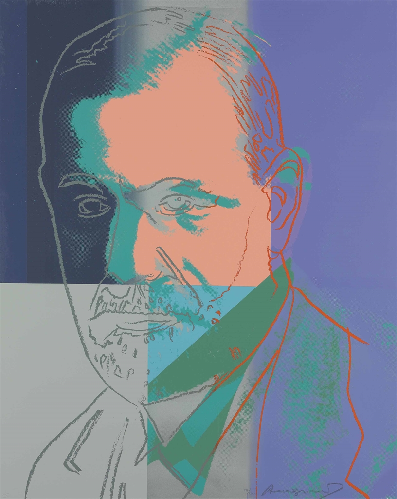 Andy Warhol-Sigmund Freud, from Ten Portraits of Jews of the Twentieth Century-1980