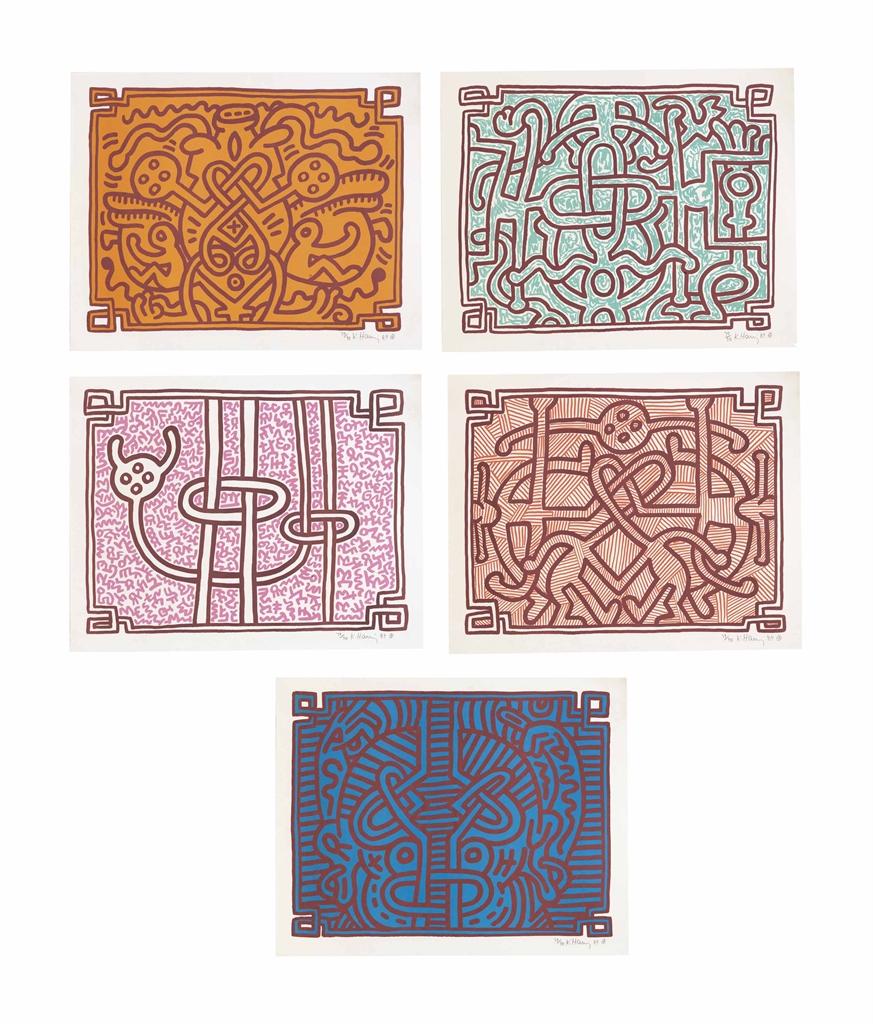 Keith Haring-Chocolate Buddha 1-5-1989