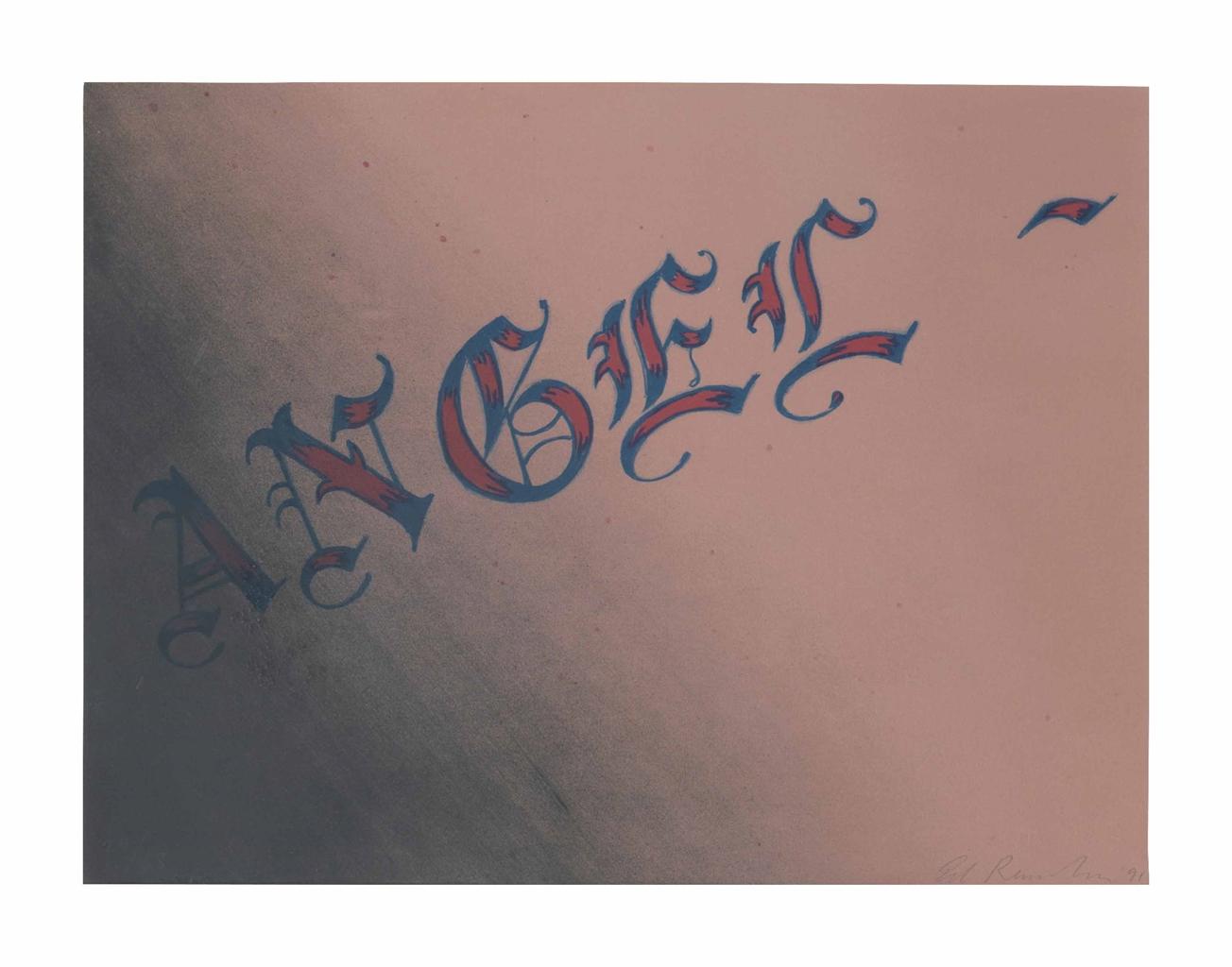 Ed Ruscha-Angel-1991