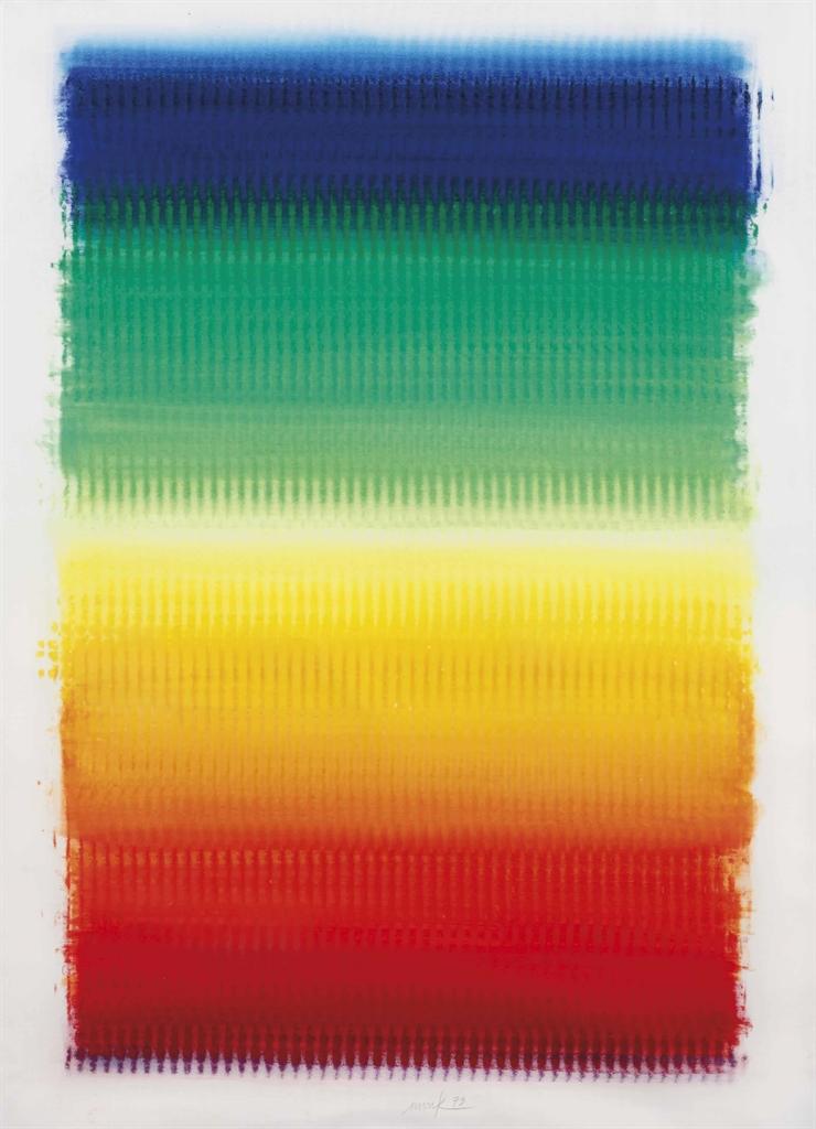 Heinz Mack-Ohne Titel (Regenbogen) (Untitled (Rainbows))-1979