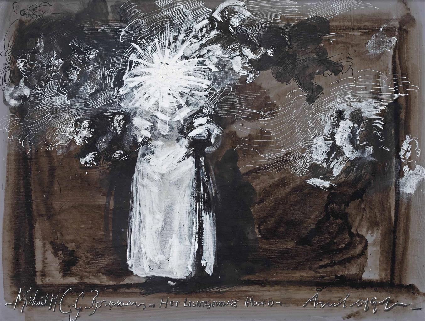 Michael Borremans-Het Lichtgevende Hoofd (The Luminous Head)-1992