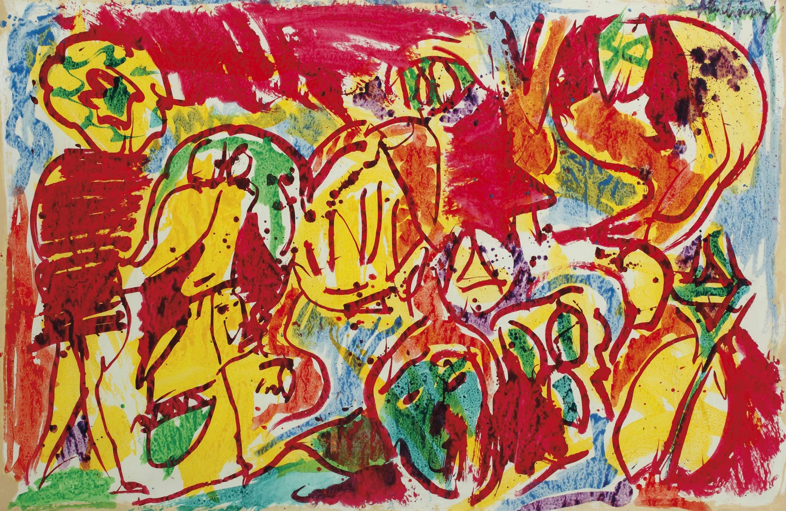 Pierre Alechinsky-L'Ordinaire du Perou (The Ordinary from Peru)-1972