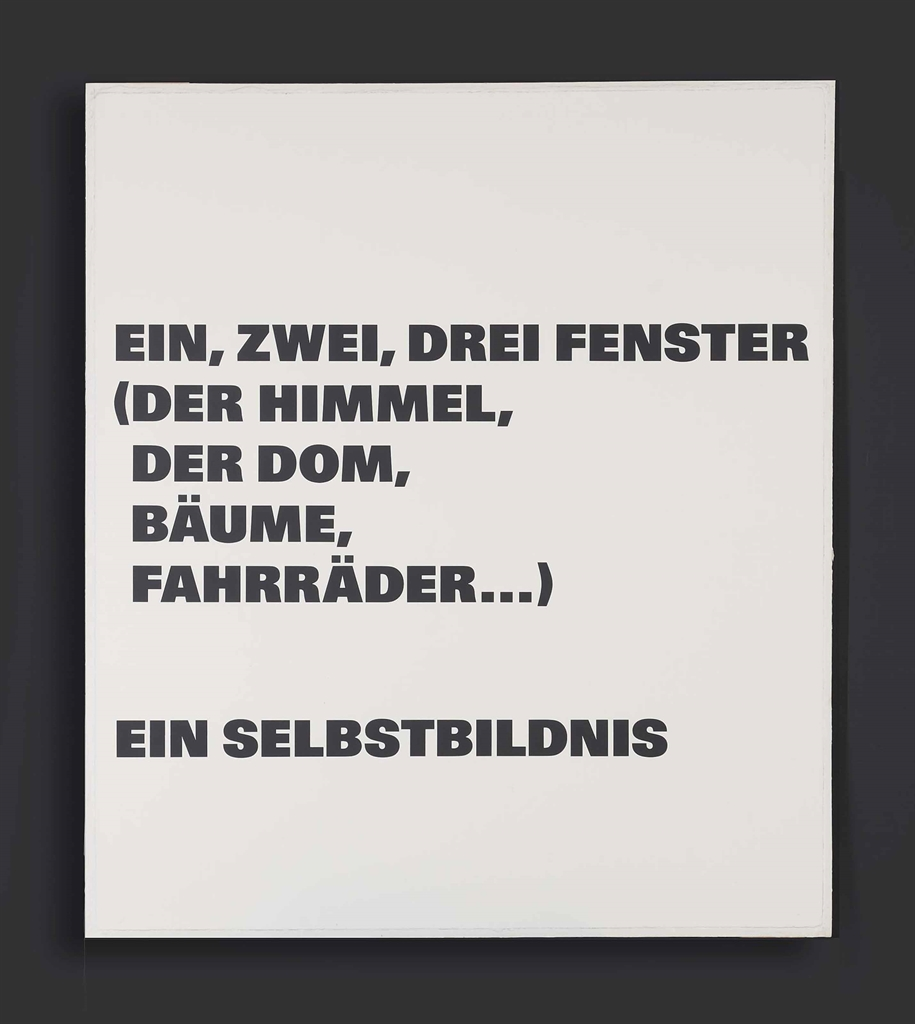 Remy Zaugg-Ein Selbstbildnis (A Self Portrait)-1991