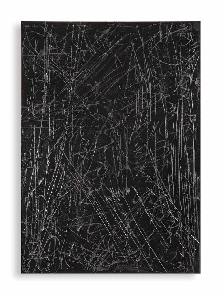 Imi Knoebel-Schwarzes Bild (Black Painting)-1990