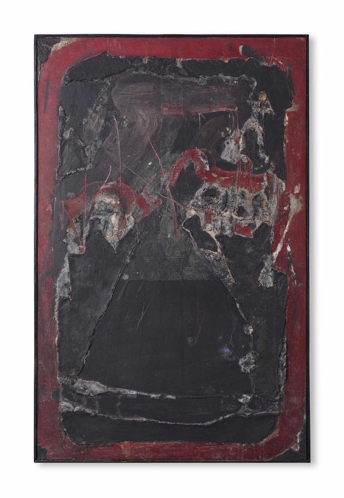 Antoni Tapies-Negre sobre Vermell (Black on Red)-1963