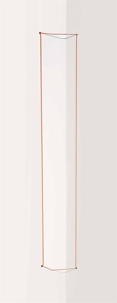 Fred Sandback-Orange Day-glo Corner Piece-1968