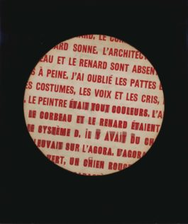 Marcel Broodthaers-Petit rond, le renard (Small Circle, the Fox)-1967