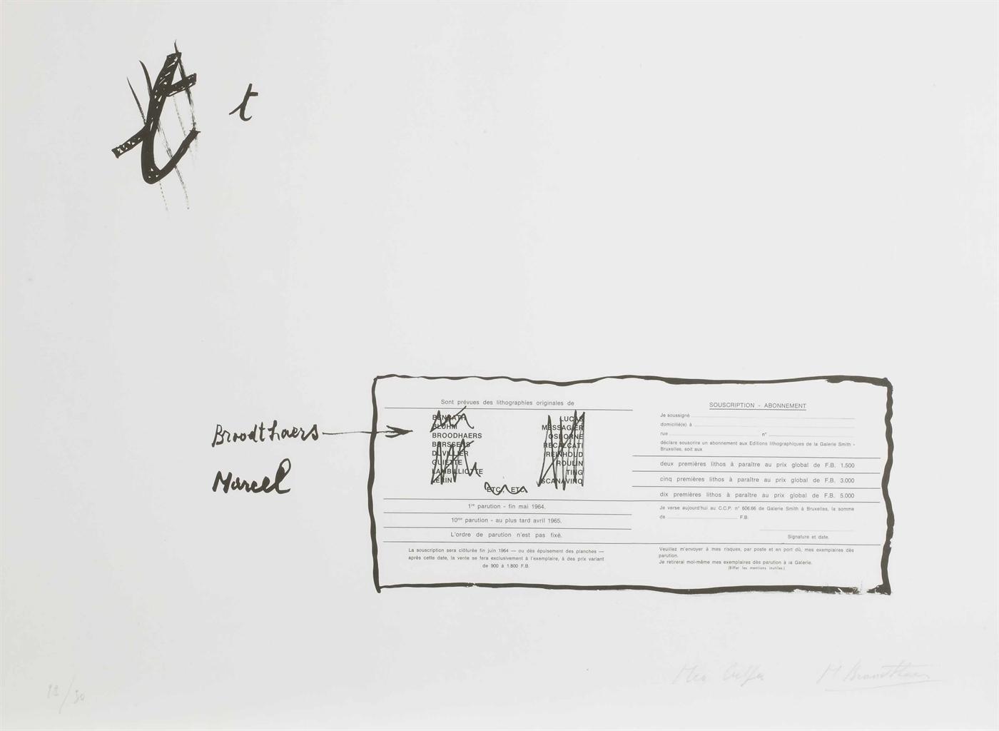 Marcel Broodthaers-La Faute d'orthographe (Mea culpa) (The Spelling Mistake (Mea Culpa))-1964