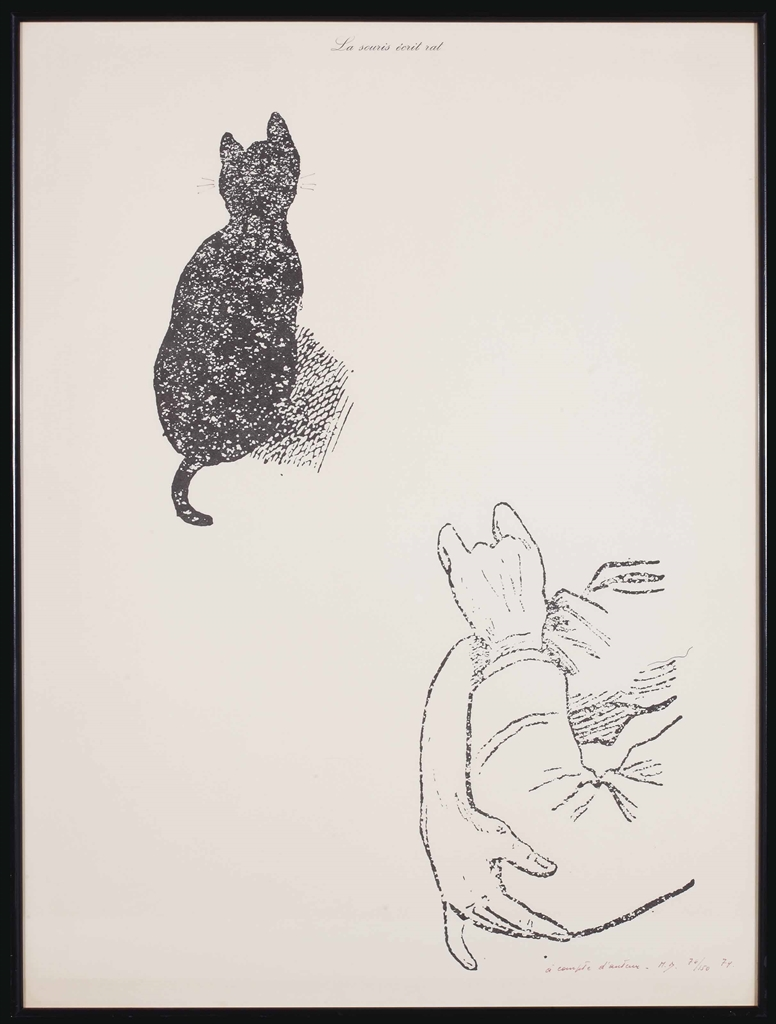 Marcel Broodthaers-La Souris ecrit rat (A compte d'auteur) (The Mouse Writes Rat (At the Author's Expense))-1974