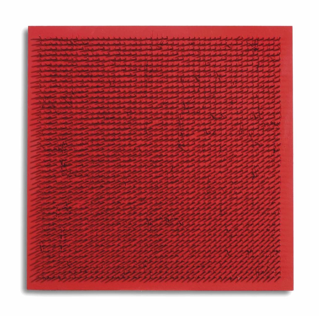Bernard Aubertin-Tableau Clous (Nail Painting)-1969