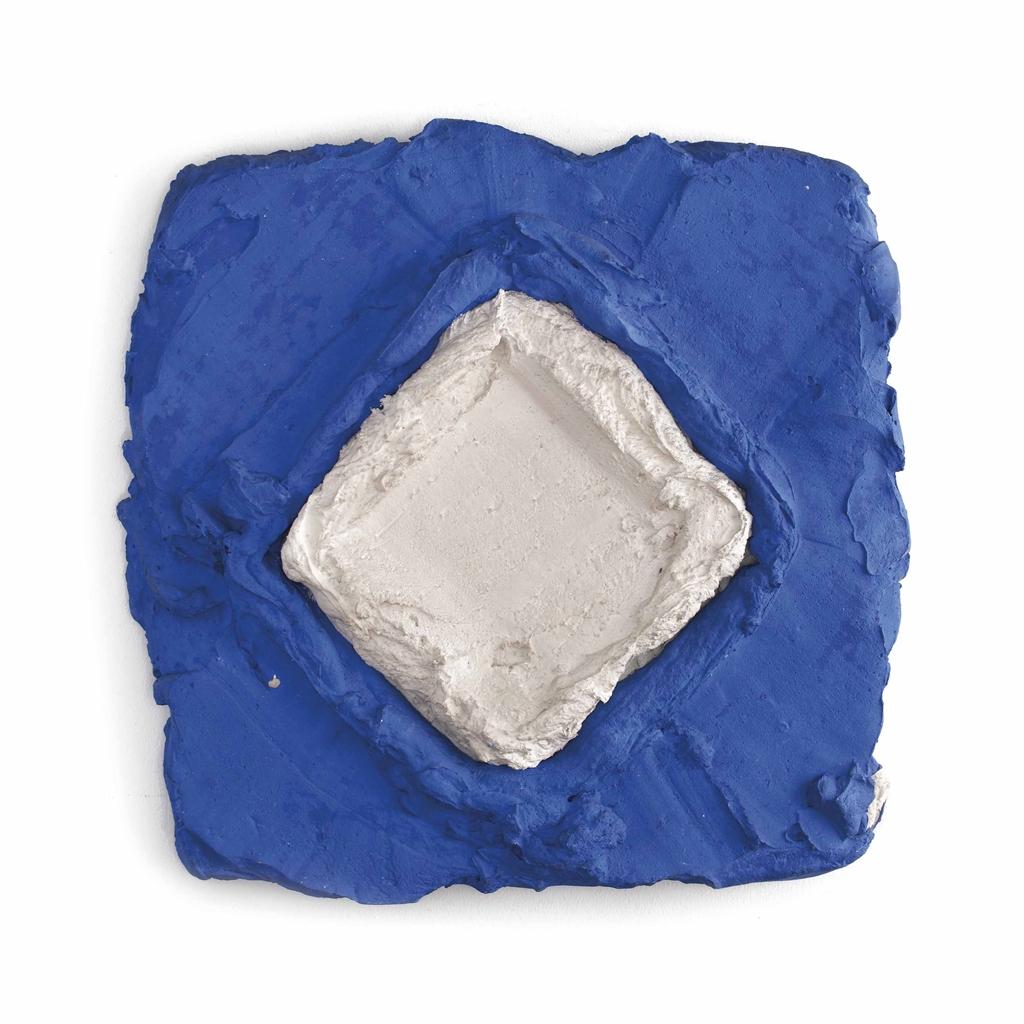 Bram Bogart-Ruit in Blauw (Rhombus in Blue)-1971