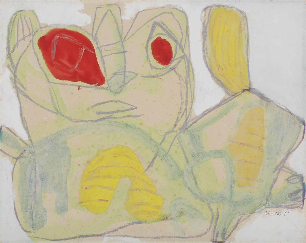 Karel Appel-Cat-1951