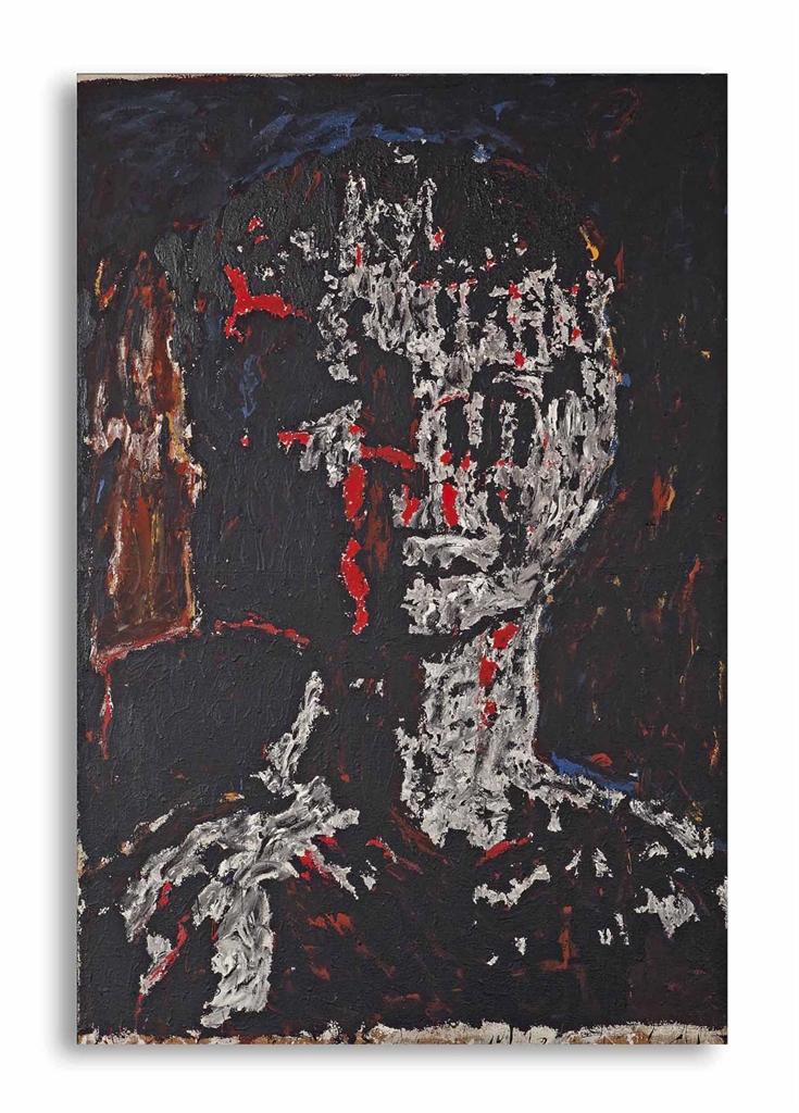 Hans Peter Adamski-Untitled (from the series Kopfe (Heads))-1983
