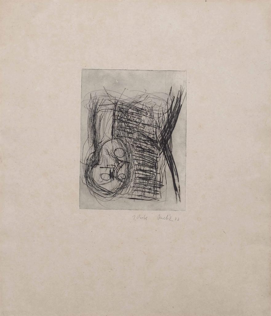 Georg Baselitz-Untitled (Plate 15 from the series Das Strassenbild)-1980