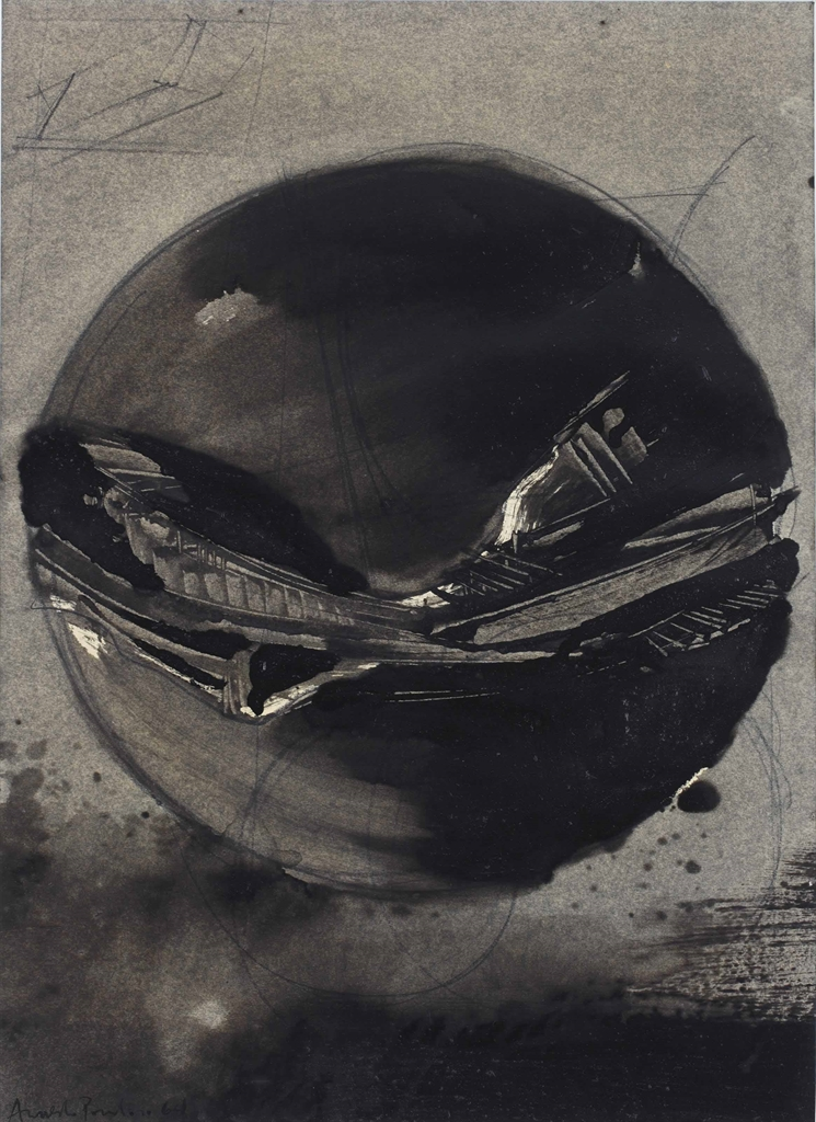 Arnaldo Pomodoro-Studio per sfero (Study of a sphere)-1964