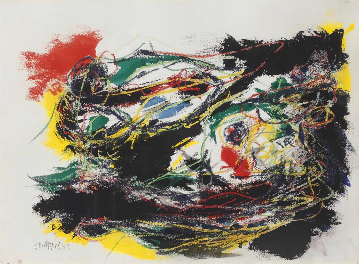 Karel Appel-Paysage Imagioneuse (Imaginary Landscape)-1959