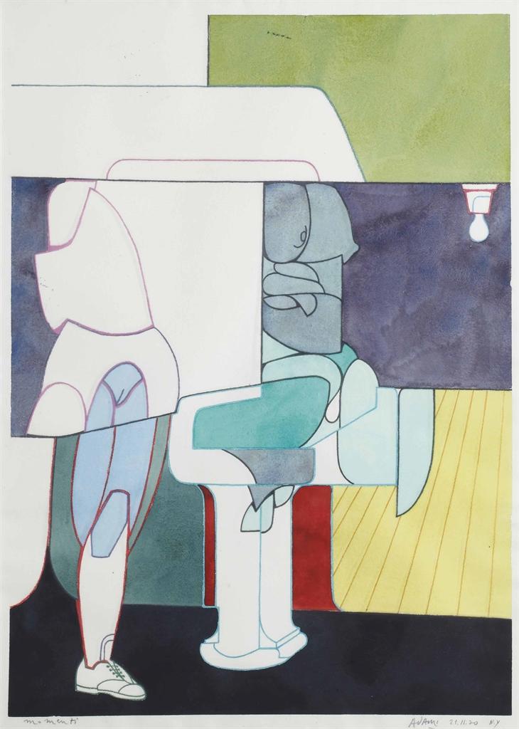 Valerio Adami-Momenti (Moments)-1970