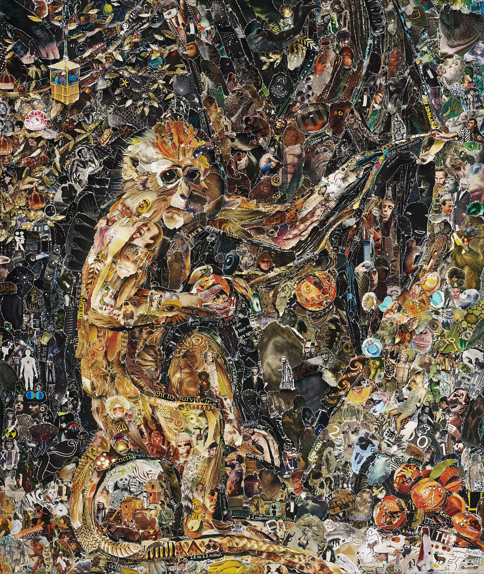 Vik Muniz-Green Monkey, After George Stubbs From Pictures Of Magazines 2-2011