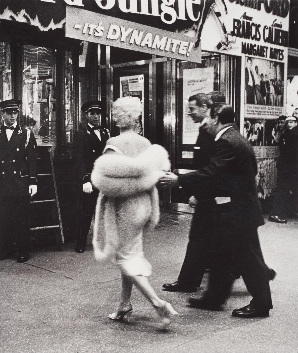 Weegee-Marilyn Monroe And Joe Dimaggio, Film Premiere, New York-1955