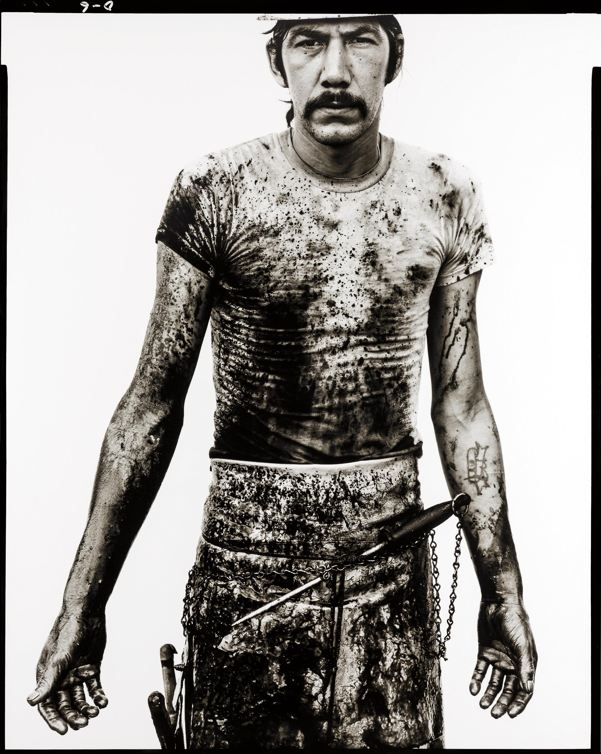 Richard Avedon-Blue Cloud Wright, Slaughterhouse Worker, Omaha, Nebraska, August 10, 1979-1979