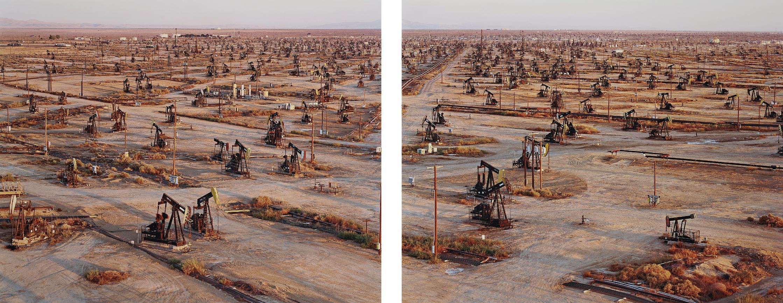 Edward Burtynsky-Oil Fields #19A &Amp; #19B, Belridge, California-2003