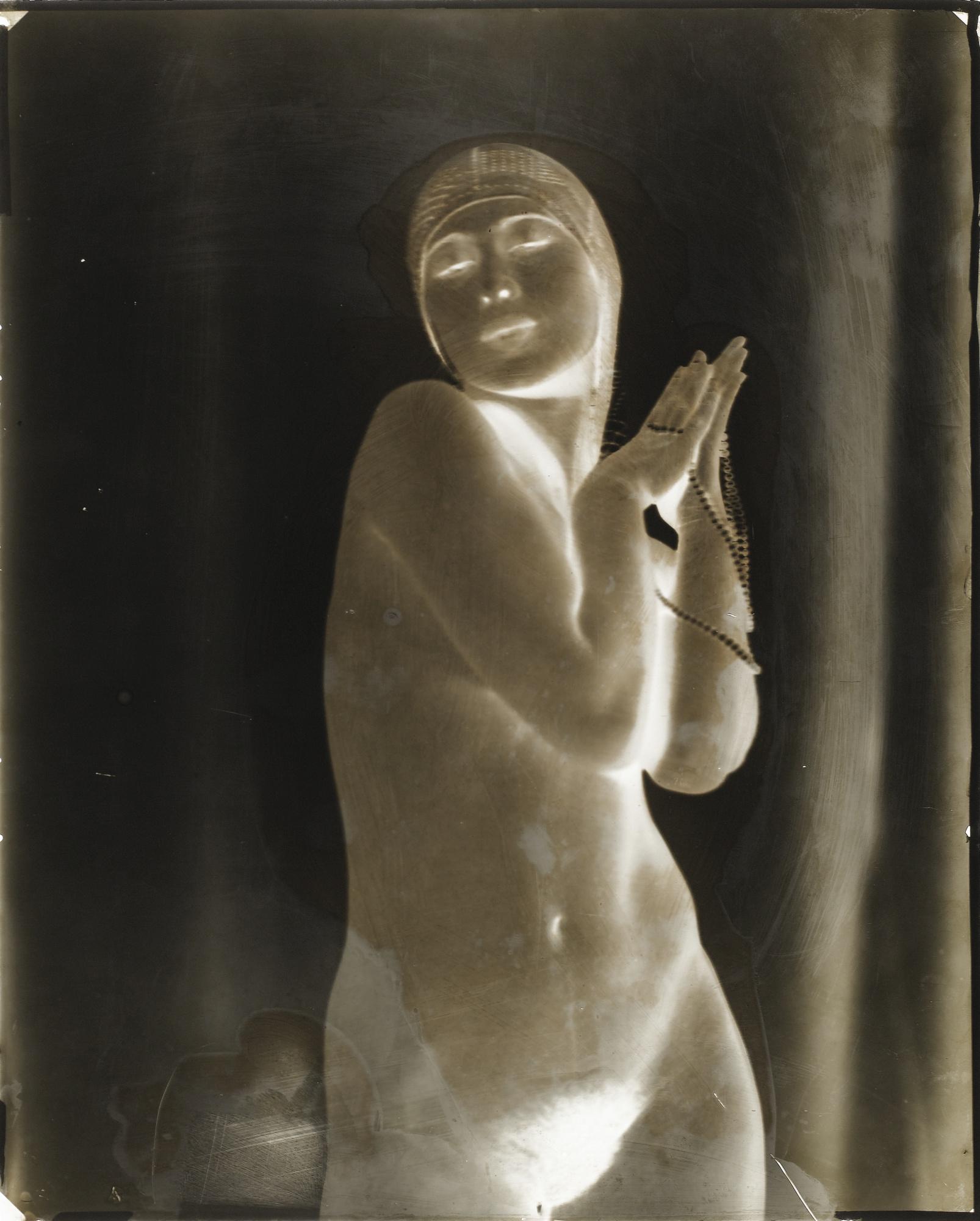 Frantisek Drtikol-Turbanned Woman With Pearls' Vers-1930